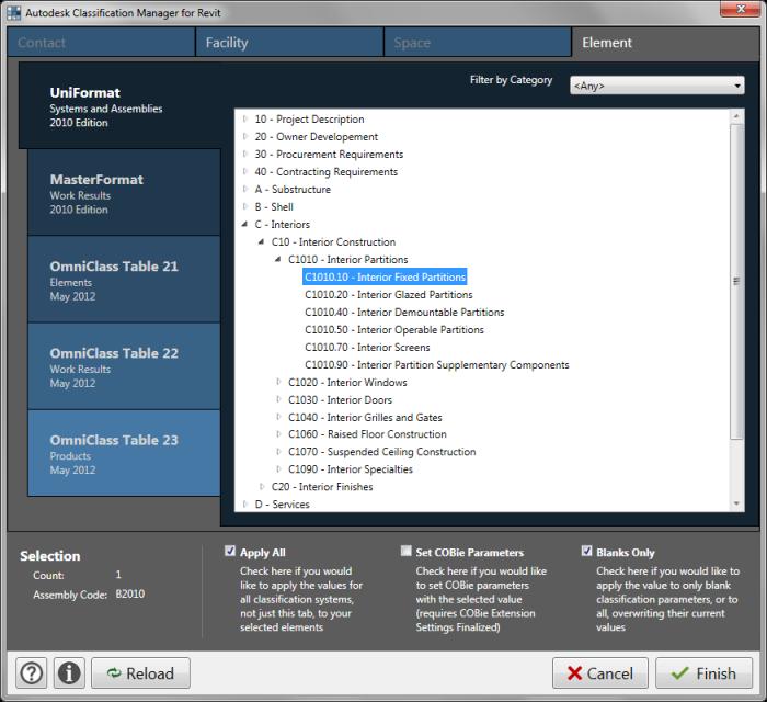 Revit App: Autodesk Classification Manager – Monalin BIM