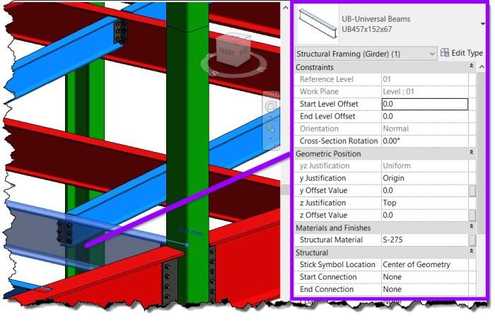 Revit 2020 - Structural Framing Instance Parameters